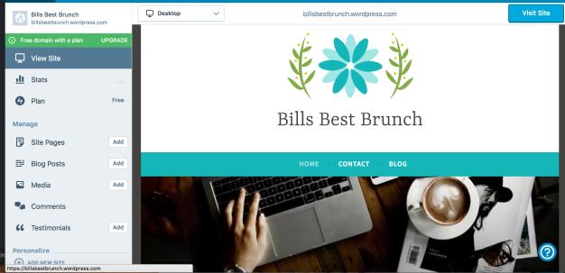 wordpress-with-menu-options