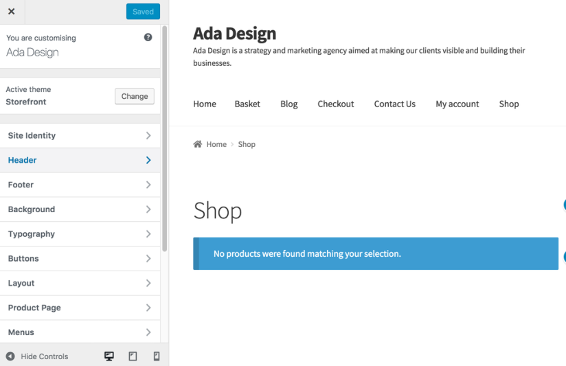 Storefront-customizer-more-options-displayed
