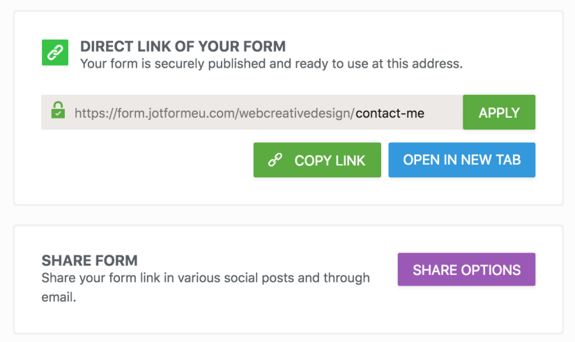 JotForm-direct-link