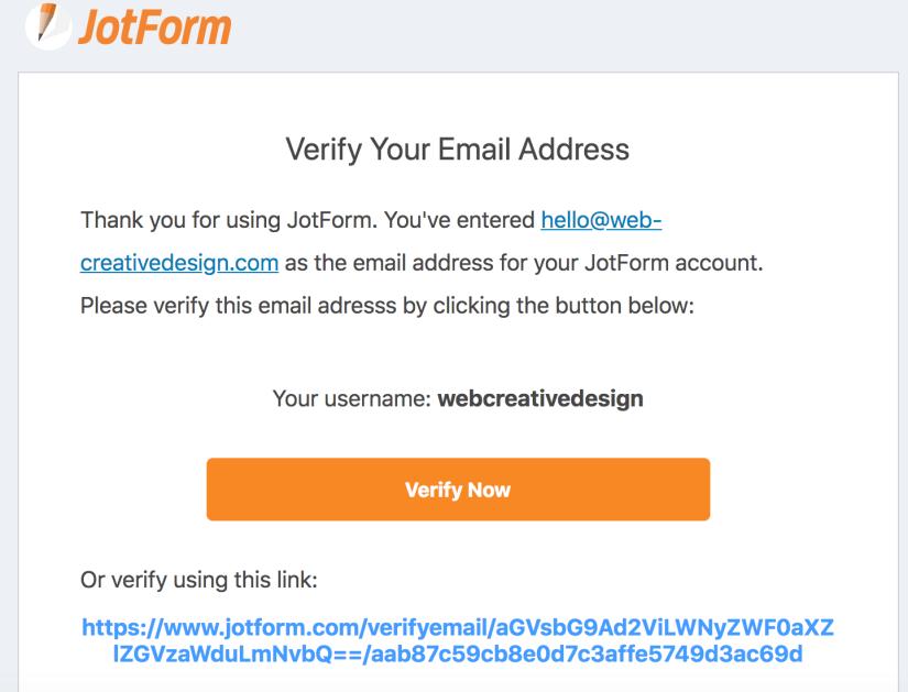 JotForm-verify-email